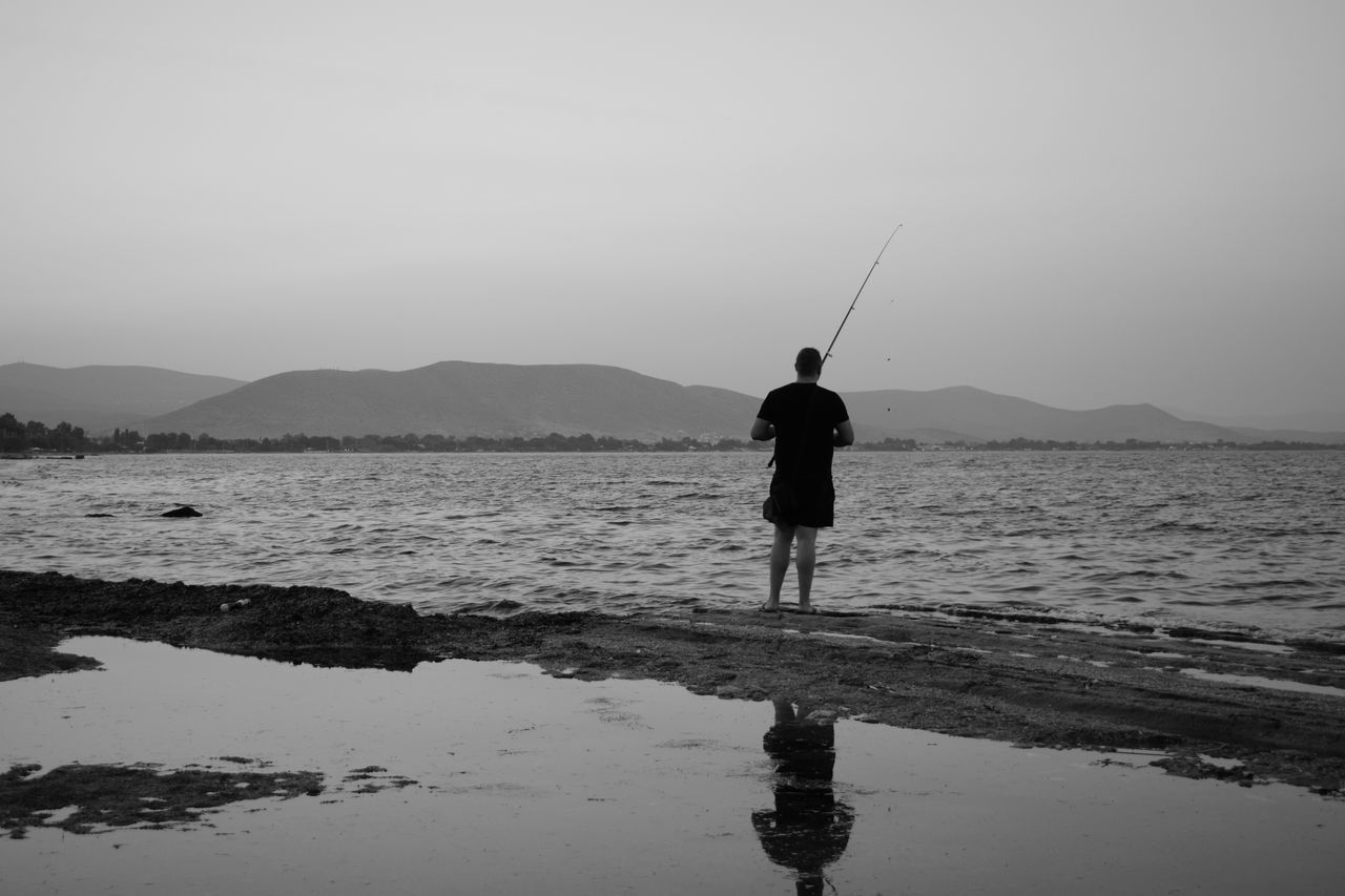 Beautiful stock photos of fishing, Beauty In Nature, Casual Clothing, Clear Sky, Copy Space