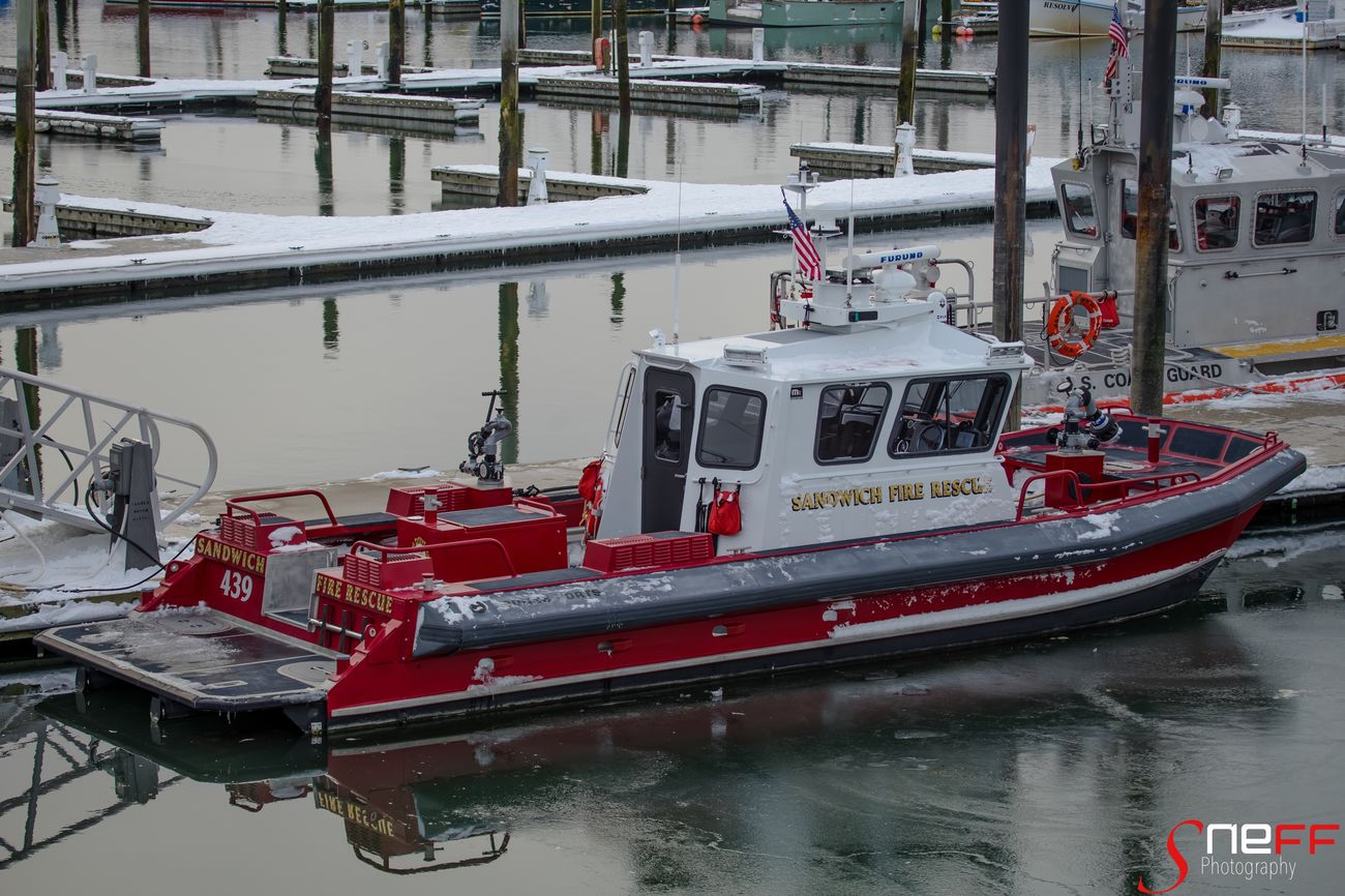 """SFD Boat"" Photo taken of Sandwich Fire Dept. Fire boat in Sandwich, Massachusetts (Cape Cod) Water Nautical Vessel Outdoors Boat Capecod Capecodimages Sonya7II Firedepartment First Eyeem Photo"