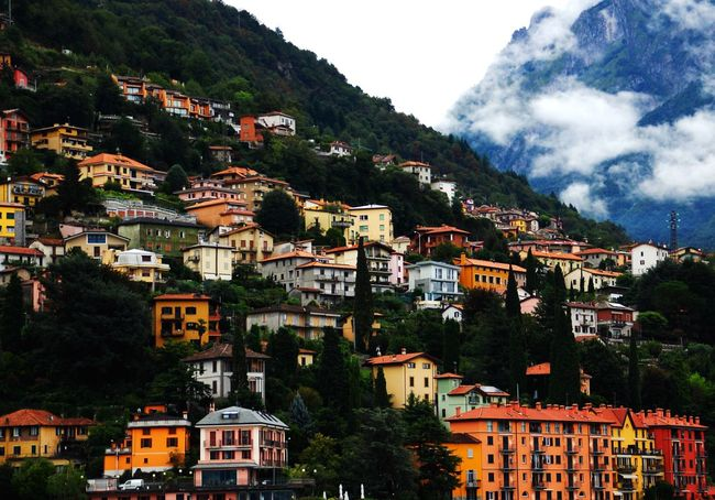 Architecture House Cloud - Sky Sky Outdoors No People Village Italy Lakecomo Hill Cloud View Wide Shot