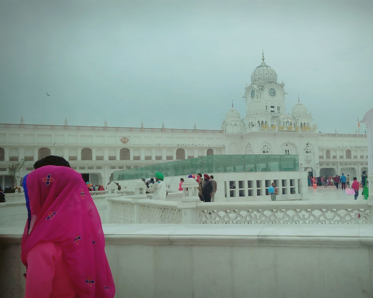 People Sky Outdoors Adult Day Adults Only Cultural Heritage Place Of Worship Reflection Travel Destinations Warming The Soul Adapted To The City Me, My Camera And I Adult Only Women Focus On Foreground Golden Temple Amritsardairies💕 Satnam_waheguru