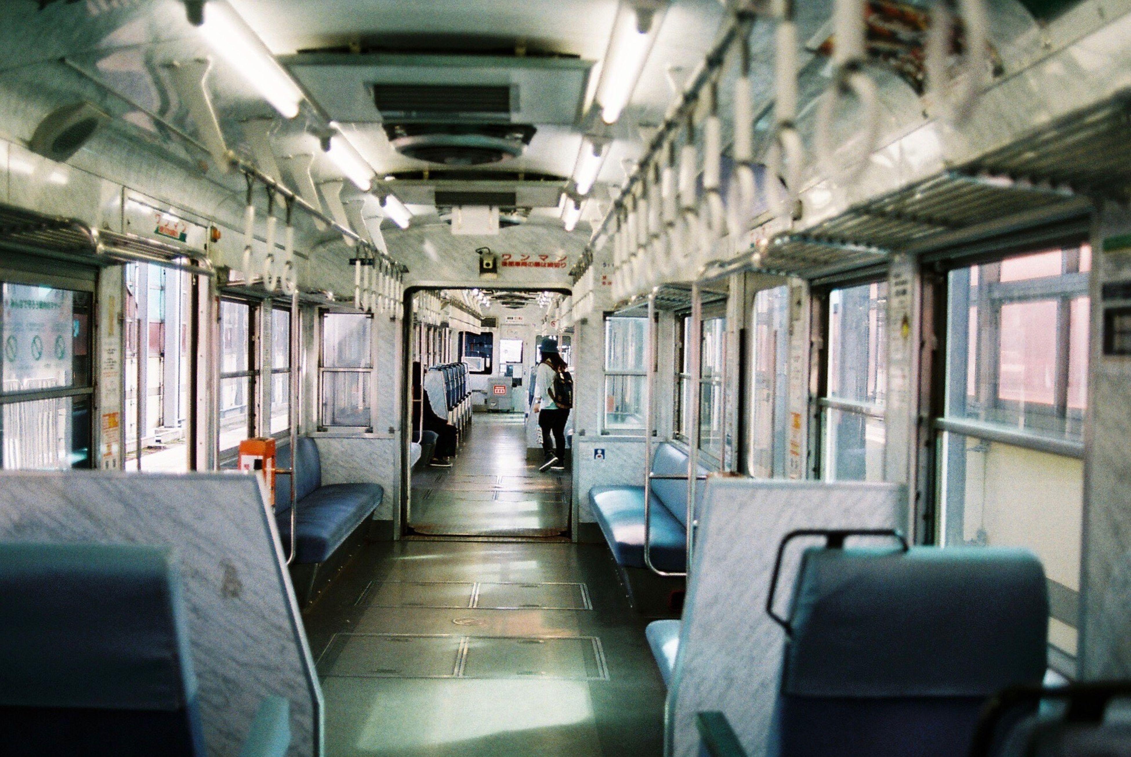 indoors, transportation, travel, public transportation, subway train, train interior, no people, day