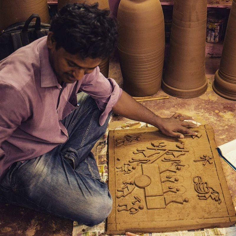 _soi Potterytown Bangalore Bengaluru India Artist Art Indianart Clay Clayart Street Streetphotography