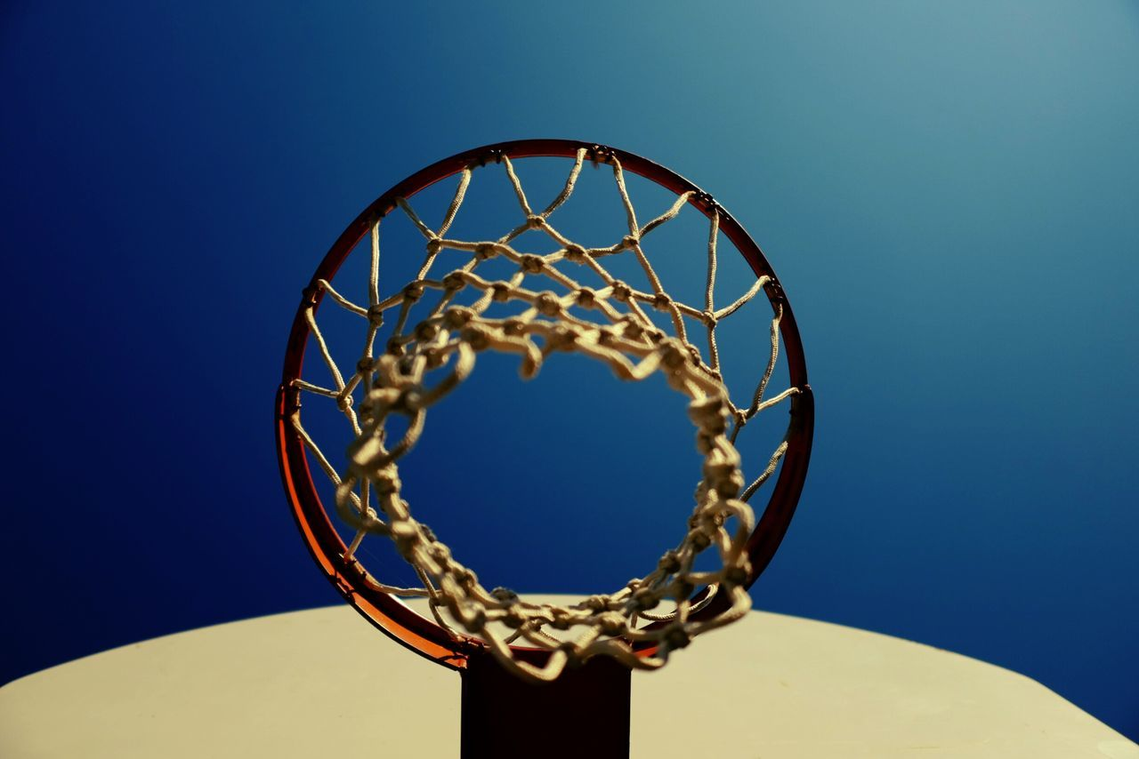 Beautiful stock photos of basketball, Basketball, Basketball Hoop, Clear Sky, Day