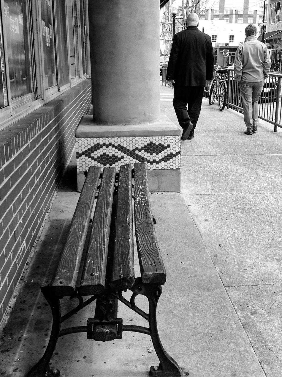 Not Park Bench Thursday Blackandwhite Black & White Streetphotography Streetphoto_bw Bench