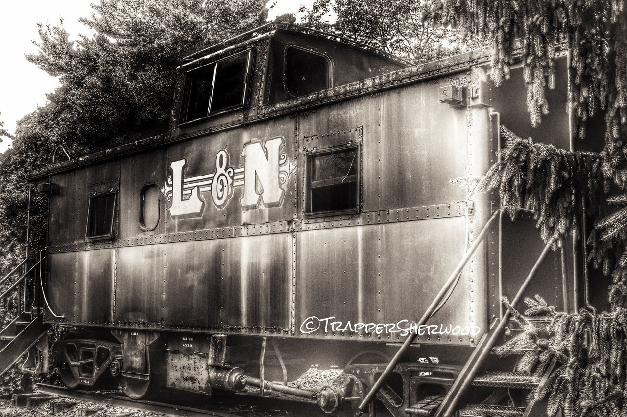 Bw_collection Hdr_Collection HDR Collection Monochrome_Monday Caboose Trains