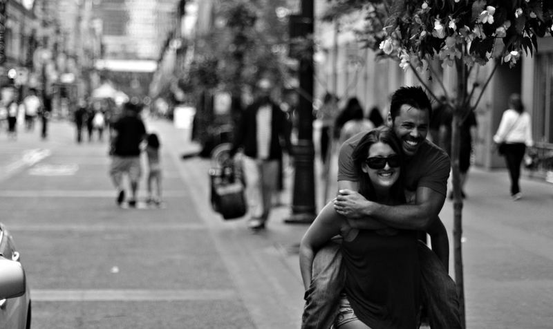 Alberta Best Friends Calgary City City Street Couple Couples Focus On Foreground Fun Incidental People Leisure Activity Love Piggyback Road