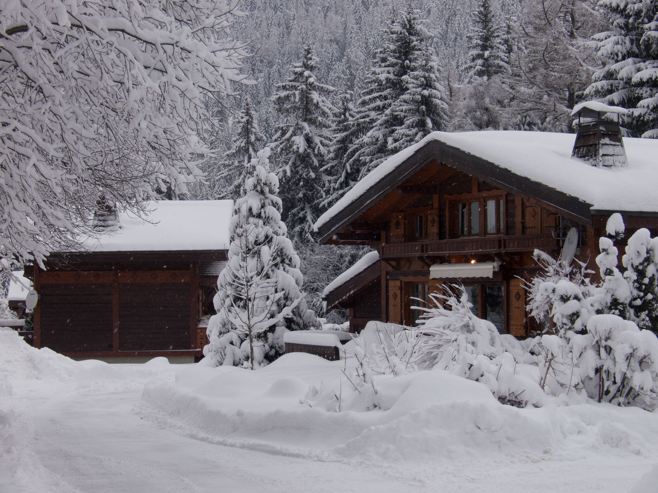 argentiere,chamonix,haute savoie,france Agricultural Building Architecture Beauty In Nature Building Exterior Built Structure Chalet Cold Temperature Cottage Eaves Forest Frozen House Nature No People Outdoors Roof Scenics Silence Snow Snowing Tranquil Scene Tree White Color Winter Wood - Material
