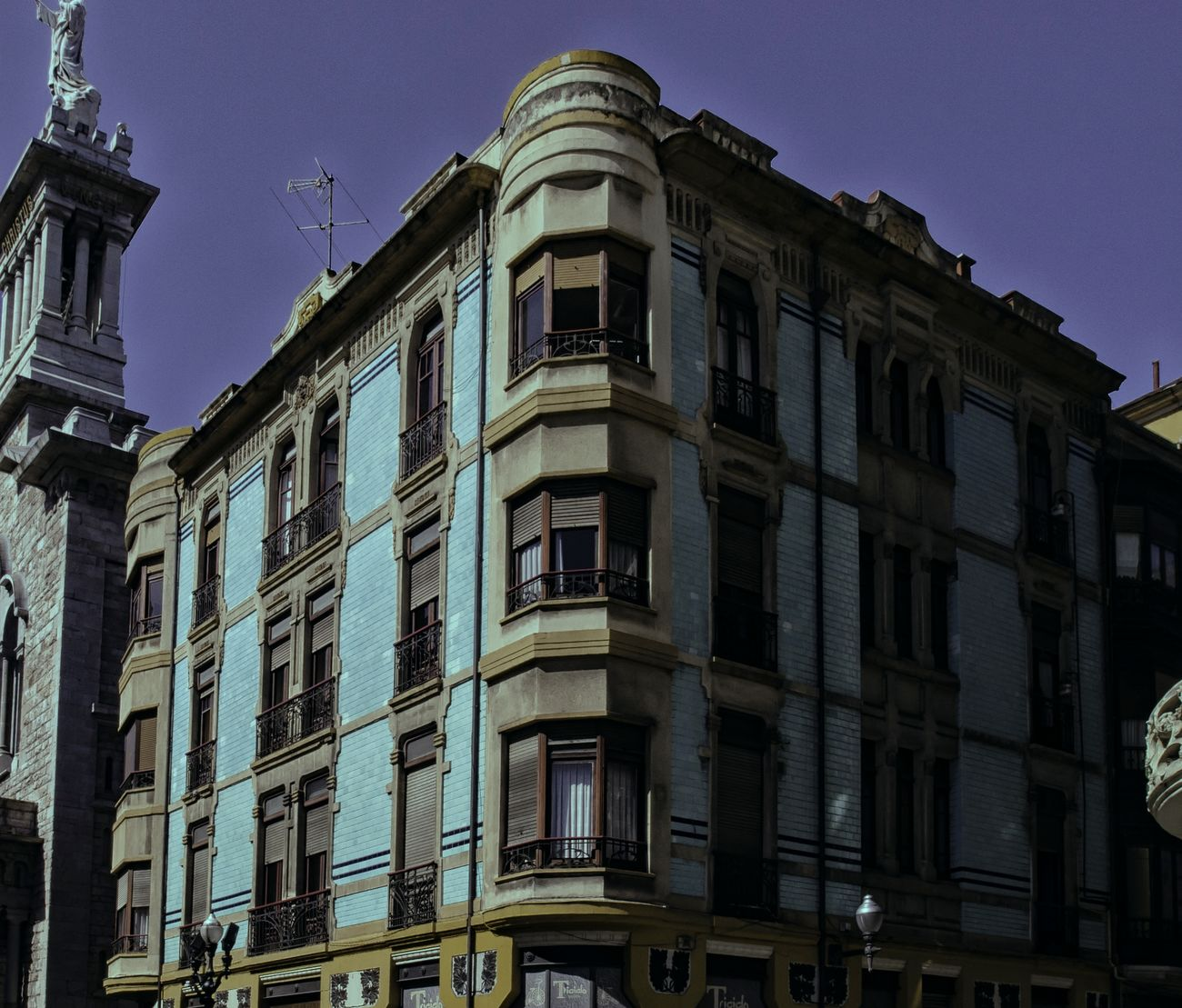 Architecture Asturias Building Exterior Built Structure Clear Sky Day Gijón Low Angle View No People Outdoors Sky Window