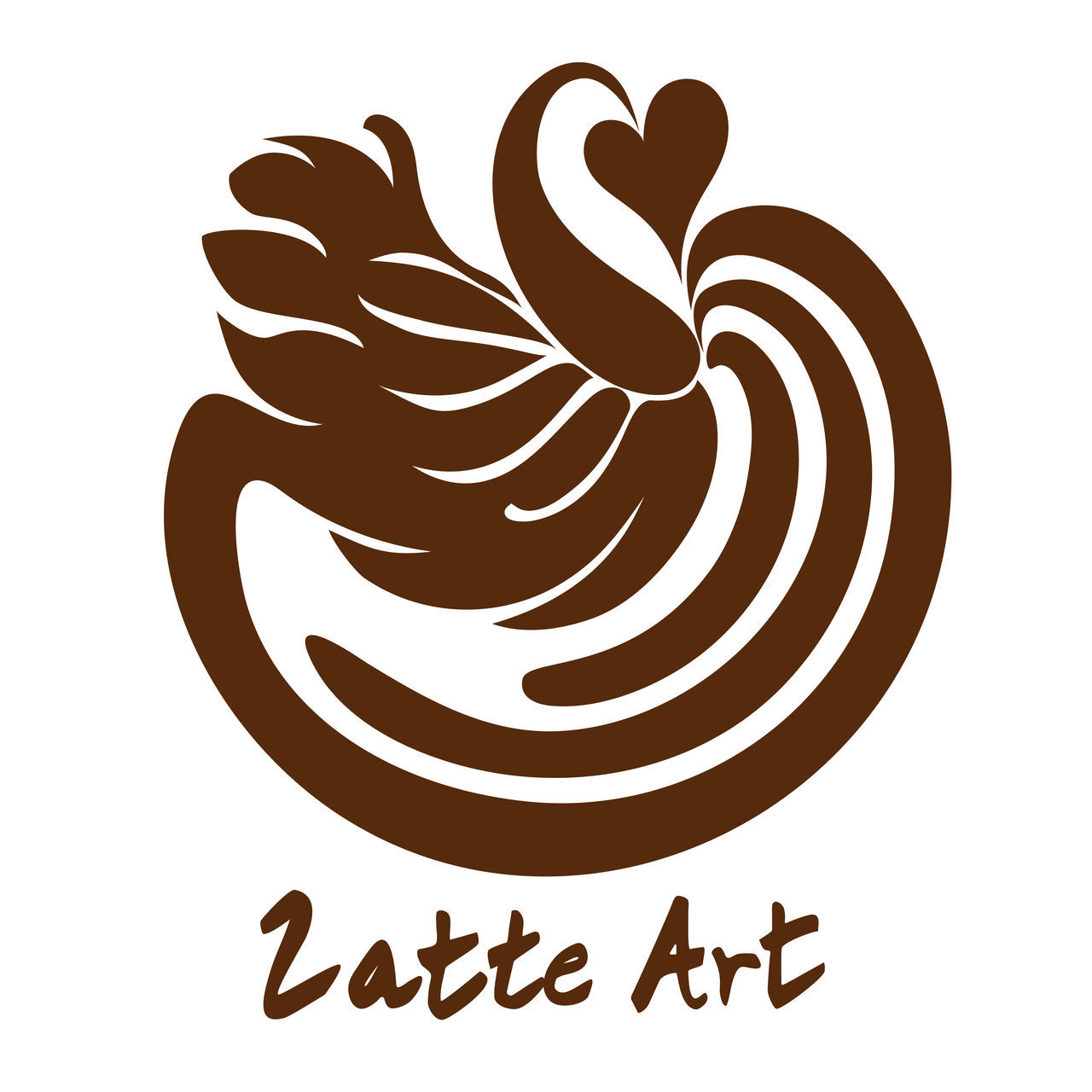 Latte Art Coffee Logo Icon Symbol Design America Art Beige Beverage Cafe Caffeine Caramel Chocolate Cinamon Coffee Cream Cute Design Dessert Freshness From My Point Of View Froth Italian Latte Milk Shop Smooth Tasting