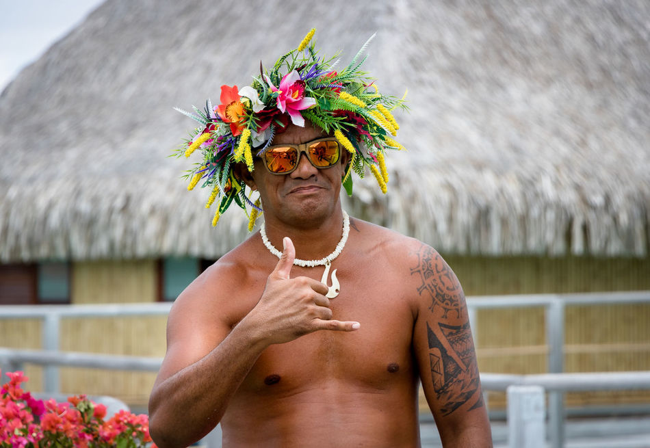 Beautiful stock photos of bora bora, mid adult, adults only, one person, flower