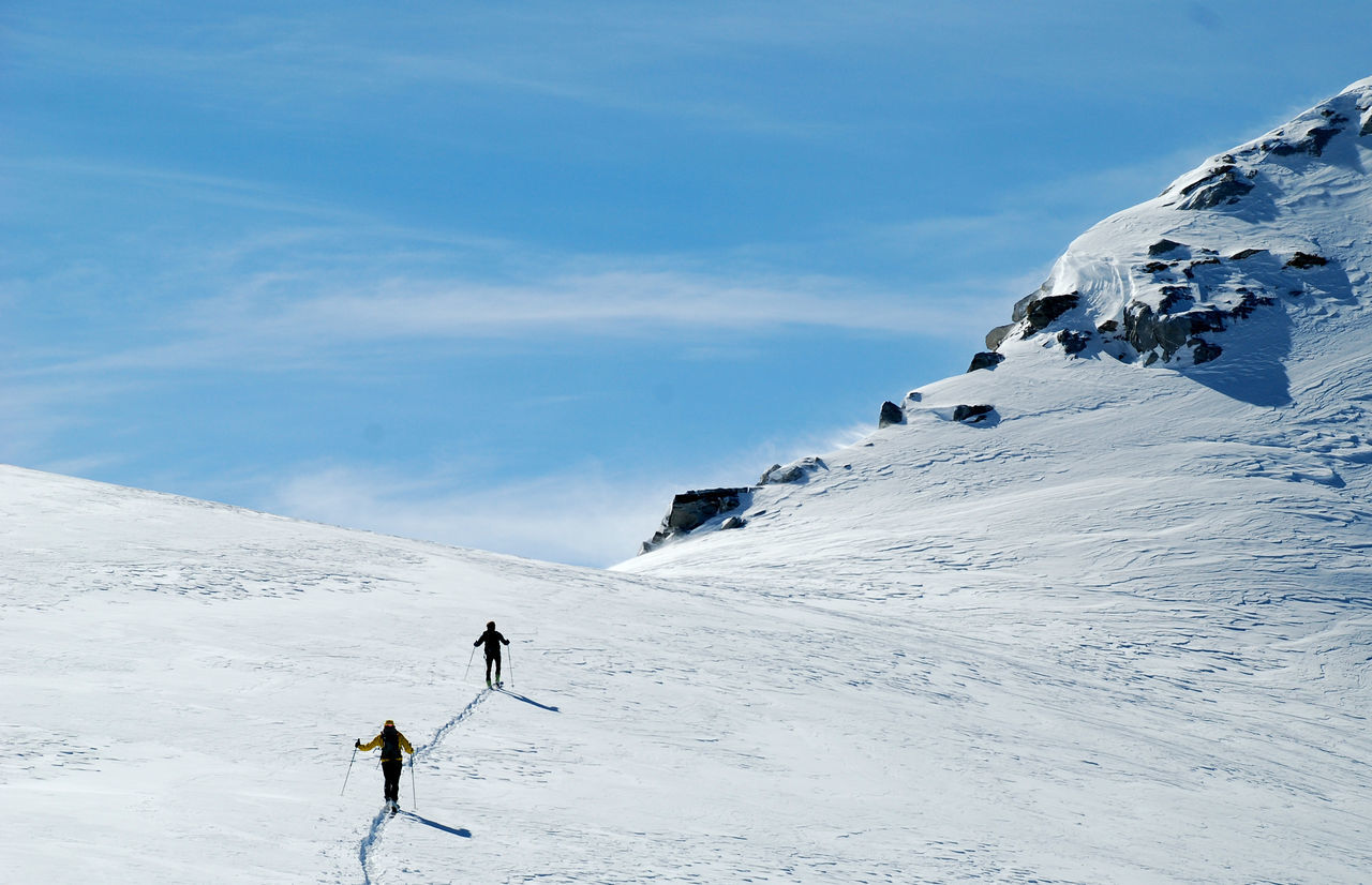 Adventure Beauty In Nature Cold Temperature Courage Day Extreme Sports Full Length Kuchlmooskopf Landscape Mountain Mountain Range Nature Outdoors People Real People Reichenspitzgruppe Scenics Ski Holiday Ski Mountaineering Skiing Snow Warm Clothing Winter Zillertal