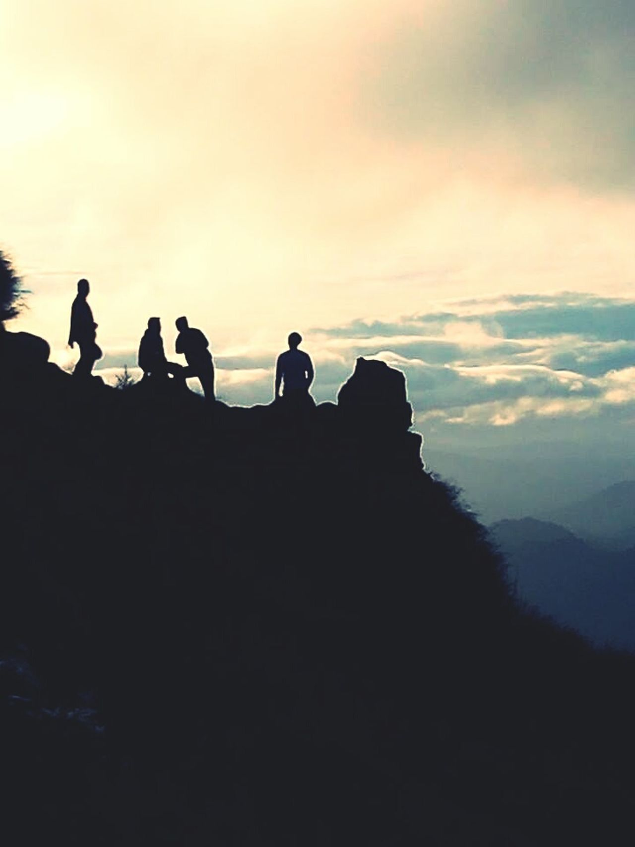Adventure Trekking TravelPhilippines Silhouette Hiking Travel Destinations Vacations Outdoors Togetherness Friendship People Cloud - Sky Rock - Object First Eyeem Photo