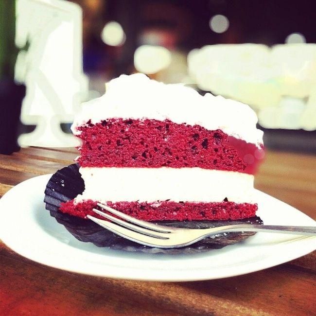Amazing Red Velvet cake! Burpple Thebakerychef Bukitmerahcentral Hdbcafe cafesg cakepastery cakes