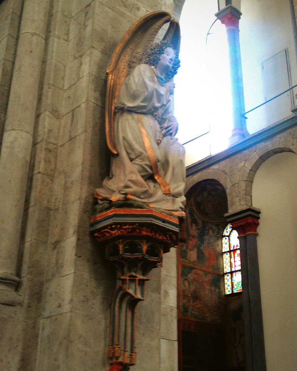 Happy Easter again! Praying Easter Angel Scupture Medieval Medieval Art Gothic Church Gothic Sculpture Cologne , Köln,