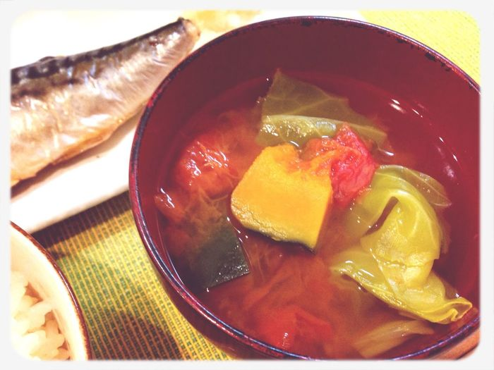 トマトとキャベツとカボチャのコンソメスープは血行促進♡