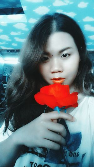 Red Rose Red Lips Burn Out Eva Filter
