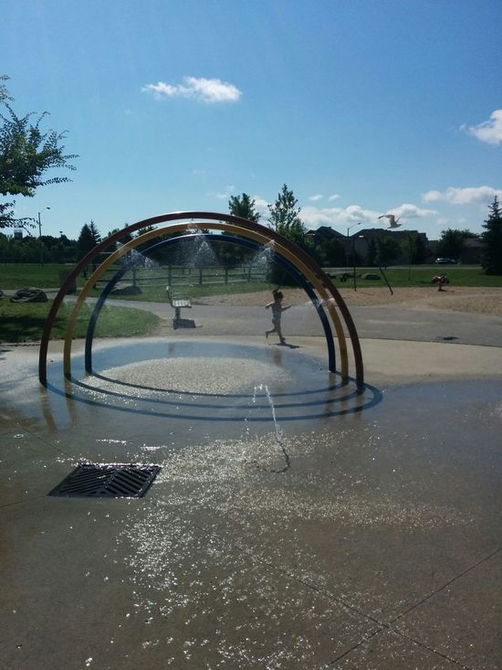 Hanging Out Splash Pad Toddleryears Toddlerlife Rainbow🌈 Fun Playing Games Running In The Park Fun In The Park Sunnyday☀️
