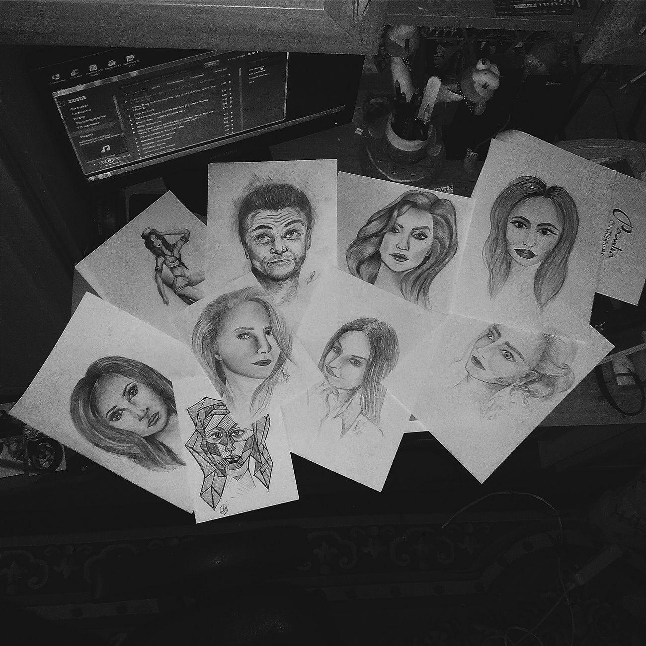 То,что успокаивает меня. То, что я могу делать хорошо. То,что я люблю. Я люблю рисовать, это бесспорно. Artist ArtWork Relaxing Hobbies Love Portrait Black & White