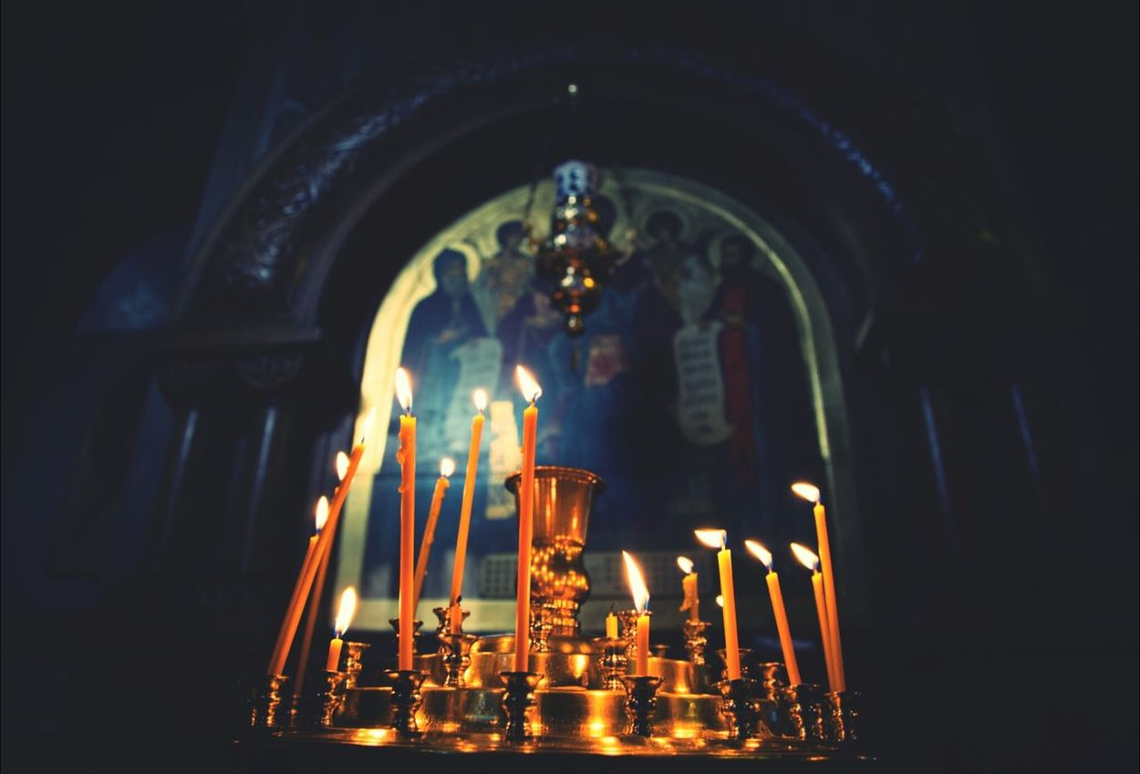 Church Orthodox Kiev Candles