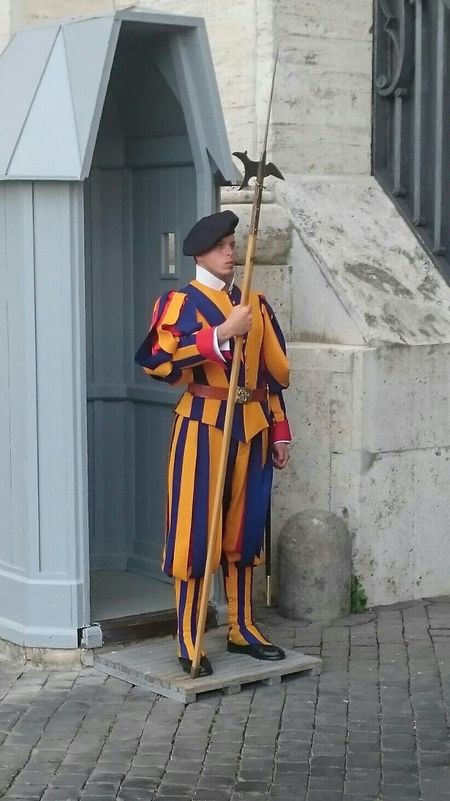 Full Length Rome Italy🇮🇹 Swiss Guard One Person Standing Outdoors Day Adult