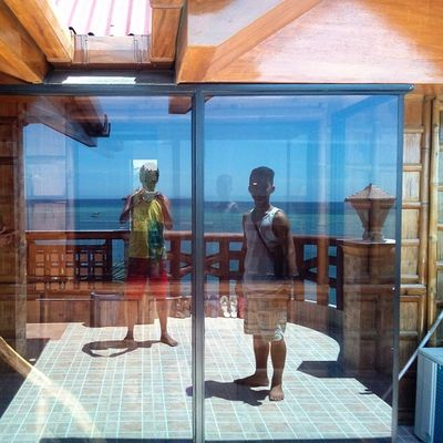 Reflections... Glassdoor Rooftop Thirdfloor BeachHouse beach resort sand sanjuanian Siquijor MysticSiquijor visitPH2015 3mar