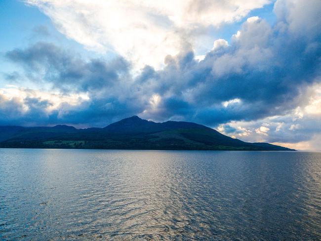 Arran  Calm Clouds Islands Isle Of Arran  Scotland Sea And Sky Sunset