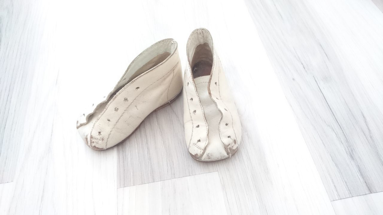 Lieblingsteil No People Close-up Indoors  Day Shoes Childrenshoes Small Little Shoes Old Shoes Floor Wooden Floor White White Color