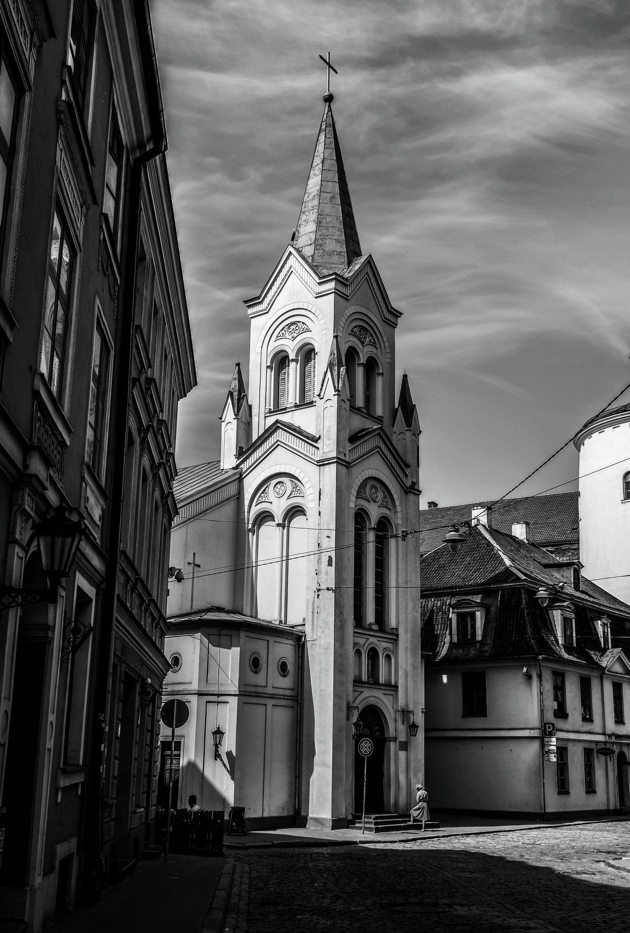 Architecture Religion Travel Destinations Building Exterior Outdoors Day MonochromePhotography Blackandwhite Photography Built Structure European Union Latvia Riga