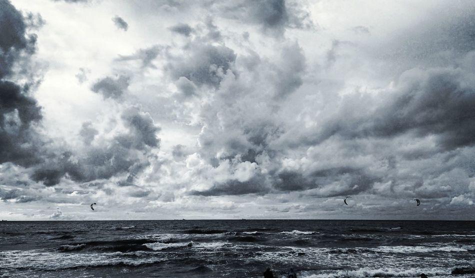 Sky Clouds Beach Sea Baltic Sea Klaipeda Lithuania