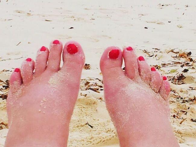 Sandy Toes red toes Feet In The Sand Feetselfies Sandy Feet