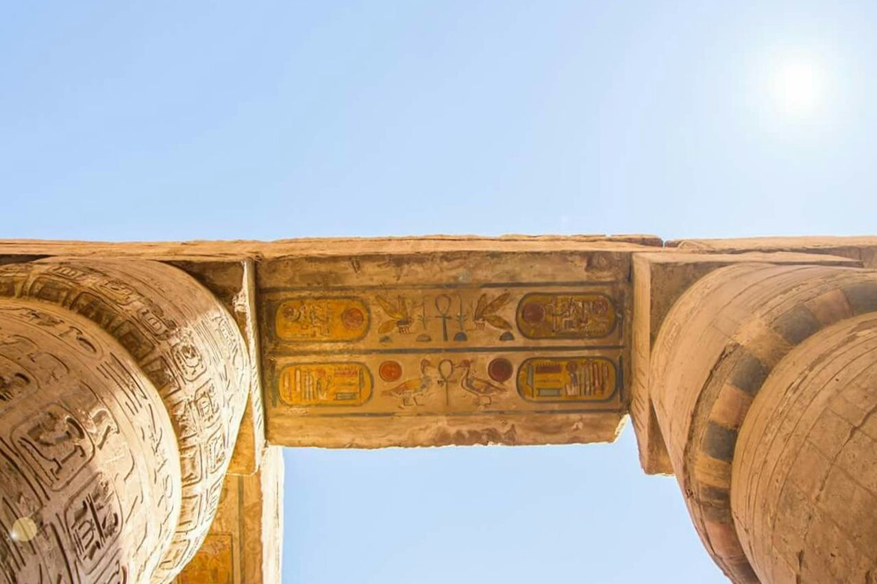 The colors are still there !! Travel Destinations Architecture Clear Sky Ancient History Travel City The Past Tourism Ancient Civilization No People Archaeology Built Structure Outdoors Sky Scenics Day Ancient History Royalty Cairo Egypt Togetherness