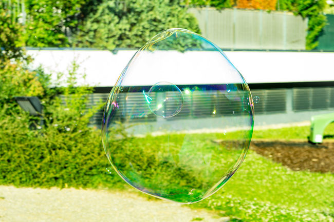 bubble in Bubble....or not? Beauty In Nature Bubbles Close-up Focus On Foreground Fragility Giant Soap Bubble Soap Bubbles Soapbubbles The OO Mission