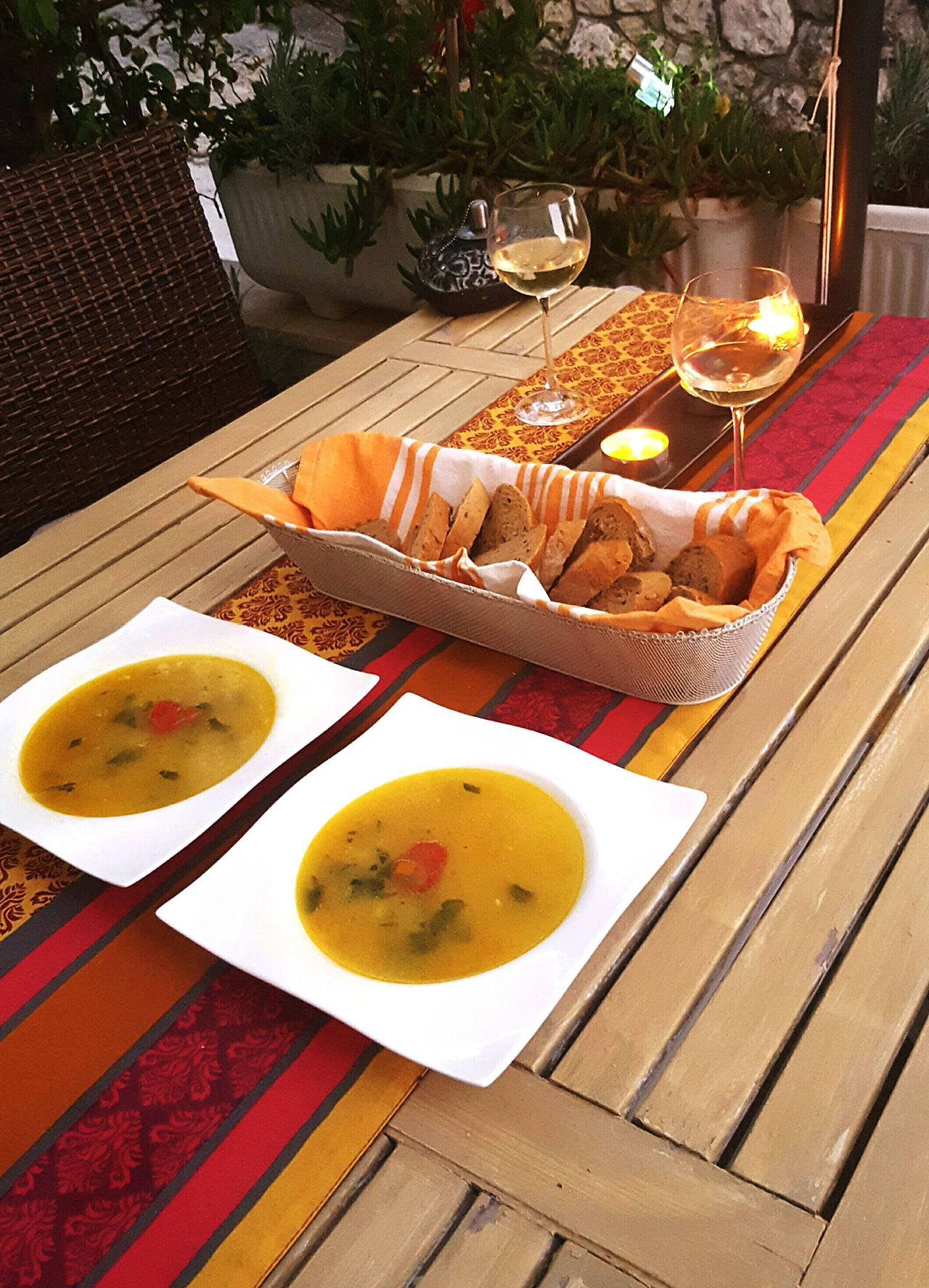 The OO Mission Homemade Fish Soup Delicious Dinner Riblja Juha Alfresco Eating Alfresco Dining Sunshine Food Dalmation Dining Dalmatia Croatia Colourful Croatia creative croatia Delicious Dalmatia Colours Of Life Beautifully Organized Symmetry Symmetrical Outdoors