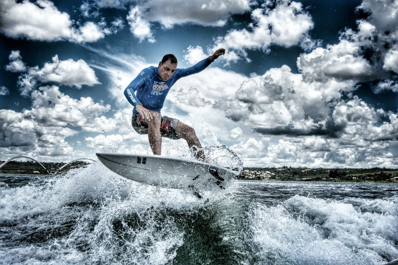 Wakeboarding Surf Vacations Cloud - Sky Looking At Camera Travel Destinations Summer Leisure Activity Multi Colored Outdoors Fun Portrait Cheerful Water Cloudscape Sport Sky Brazil Brasília Lago Paranoa Wakesurf Wakesurfing Surfing One Person Wakeboard