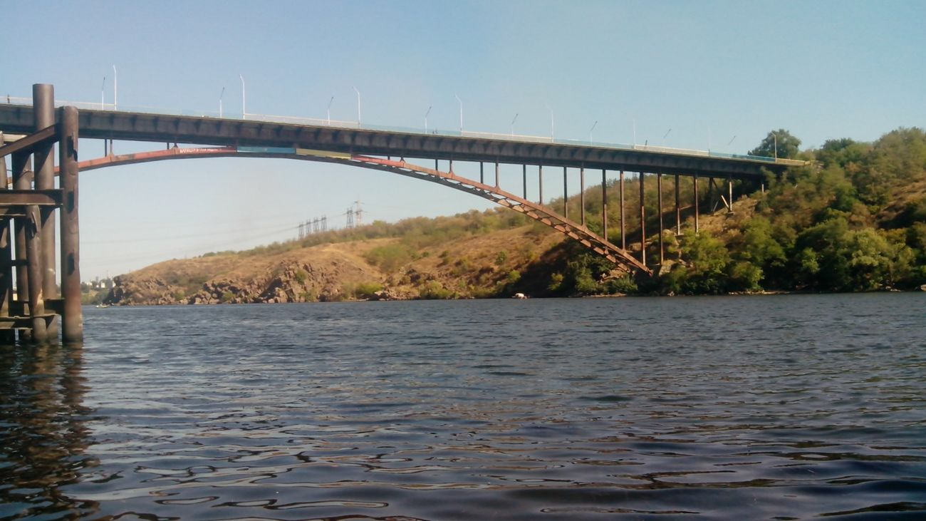 Water Sky Cloud Day Sky And Clouds Wave Sanset вода Bridge мост железный мост река камни лето River