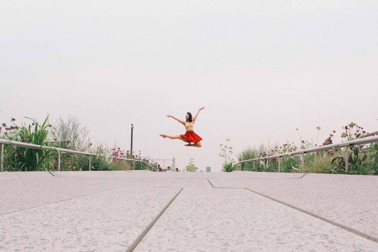 The Action Photographer - 2015 EyeEm Awards shot taken of the Beautiful Ballerina Jasmine Chui at the High Line New York. New York