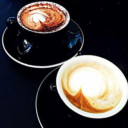 Cappuccino 😍 Cappuccino Black Bar Relax Breakfast Heart Taking Photos Eating Enjoying Life Friend