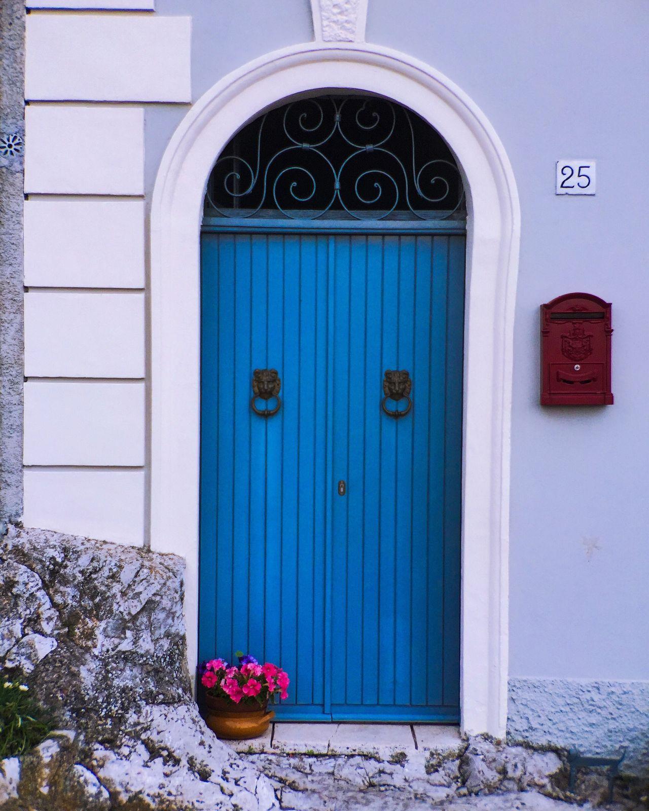 Door Blue Flower Closed Bright Vivid IPhoneography Twentyfive Italia EyeEm Gallery EyeEm Best Shots Simplicity