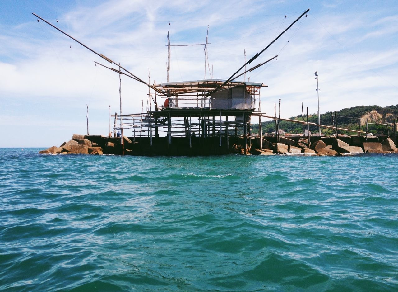 Trabocchi Fishing Fishing House Sea Water Adriatic Adriatic Sea Abruzzo Italy Summer Typical Fishing House San Vito Chietino, Abruzzo The Essence Of Summer Sky Waves Season  Beautiful Beautiful Day