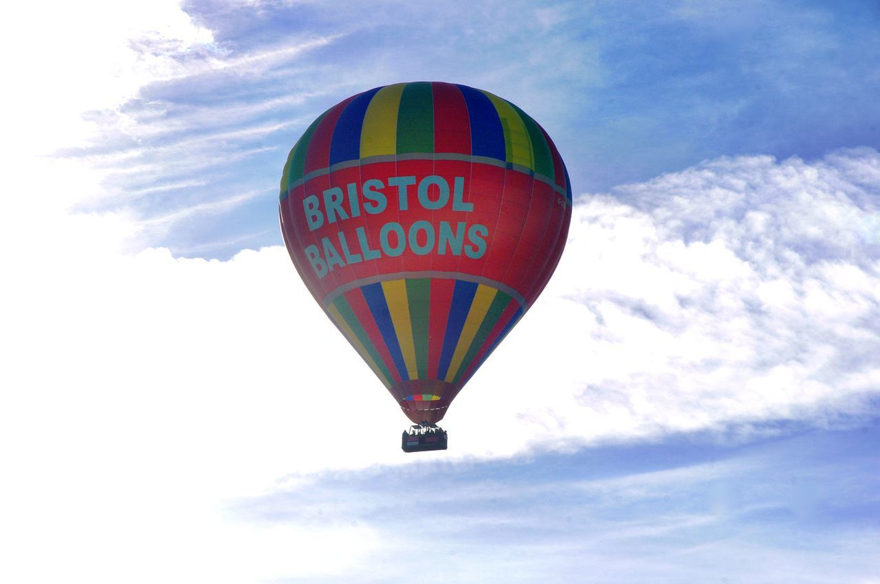 Hot Air Balloon Cloud - Sky Multi Colored Mid-air Flying Sky Air Vehicle Transportation Nature Bristol, England Morning Sky This Morning. 28.5.17