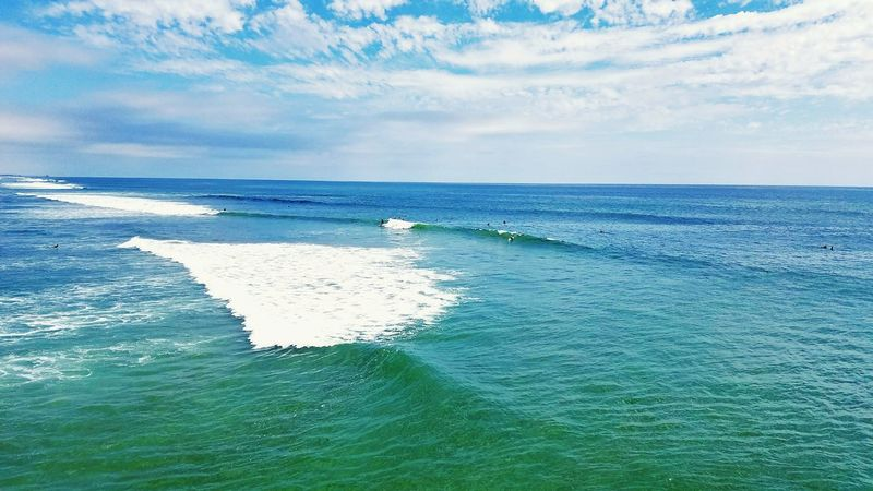 Scenics Sea Water Blue Day Beauty In Nature Outdoors Summer Pier Huntington Beach Southside Surfers Lowtide  Whitewash Peaceful Spaces