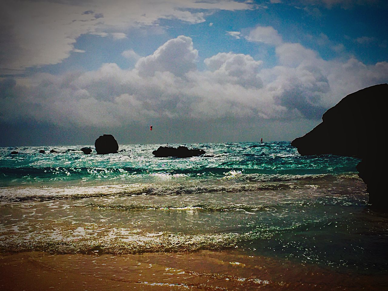 sea, water, beauty in nature, nature, sky, scenics, cloud - sky, horizon over water, tranquility, silhouette, beach, no people, outdoors, day