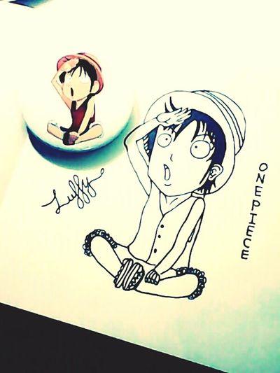 Im just draw a little Luffy One Piece..😘 Hand Drawing Cartoon Art Artphoto Onepiecefan Monkey D Luffy One Piece Luffy Happy Weekend !!!
