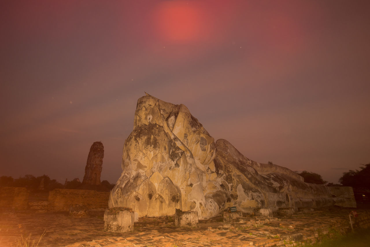 sunset, rock formation, beauty in nature, nature, scenics, rock - object, tranquility, sky, tranquil scene, no people, outdoors, physical geography, landscape, water, day