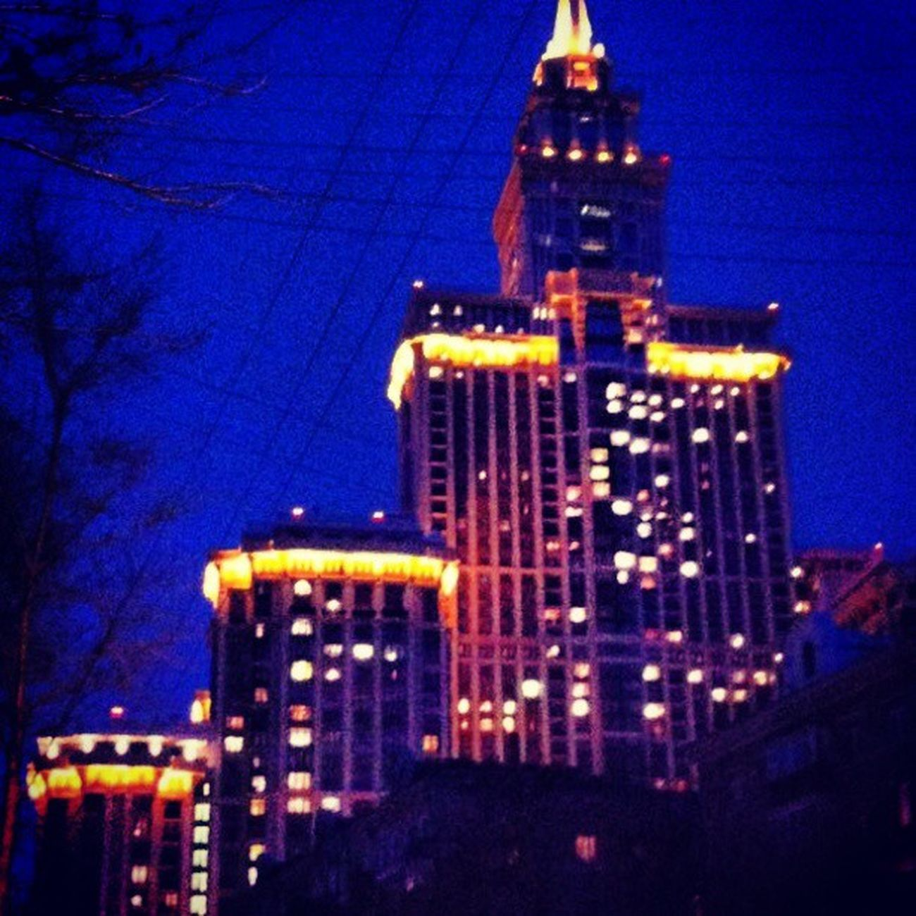 Triumphpalace Nightmoscow Night SOKOL Photo