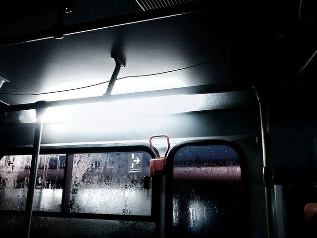 Indoors  Illuminated Lighting Equipment No People Night Bus Rainy Days Transportation