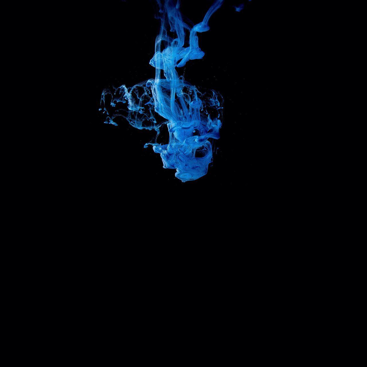 Water Abstract Ink Blue Black Background Shape Dissolving Pattern No People Splashing Studio Shot Motion Liquid Close-up Mixing Underwater Colliding