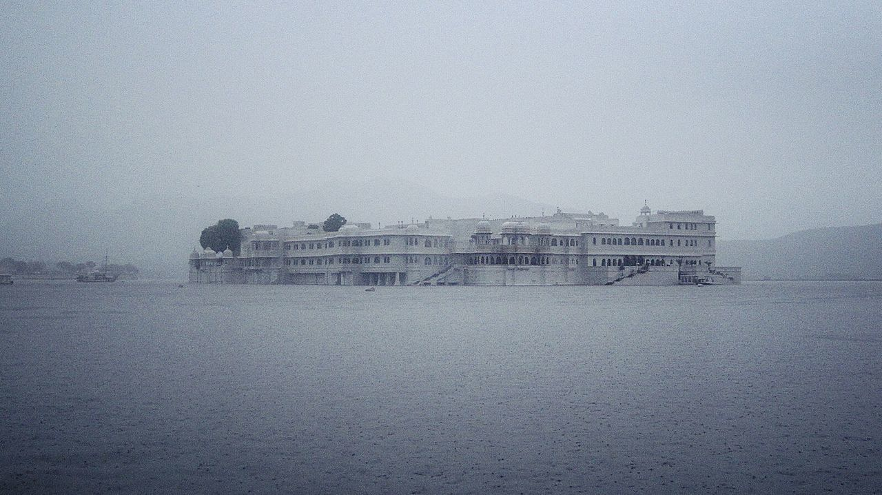 My Year My View Lake Palace Udaipur Amazing Architecture Beautiful Rainy Grey Sky Grey Oniric Dreamy Magical Magical Places Hotels Lake Water EyeEm Gallery The City Light The Secret Spaces