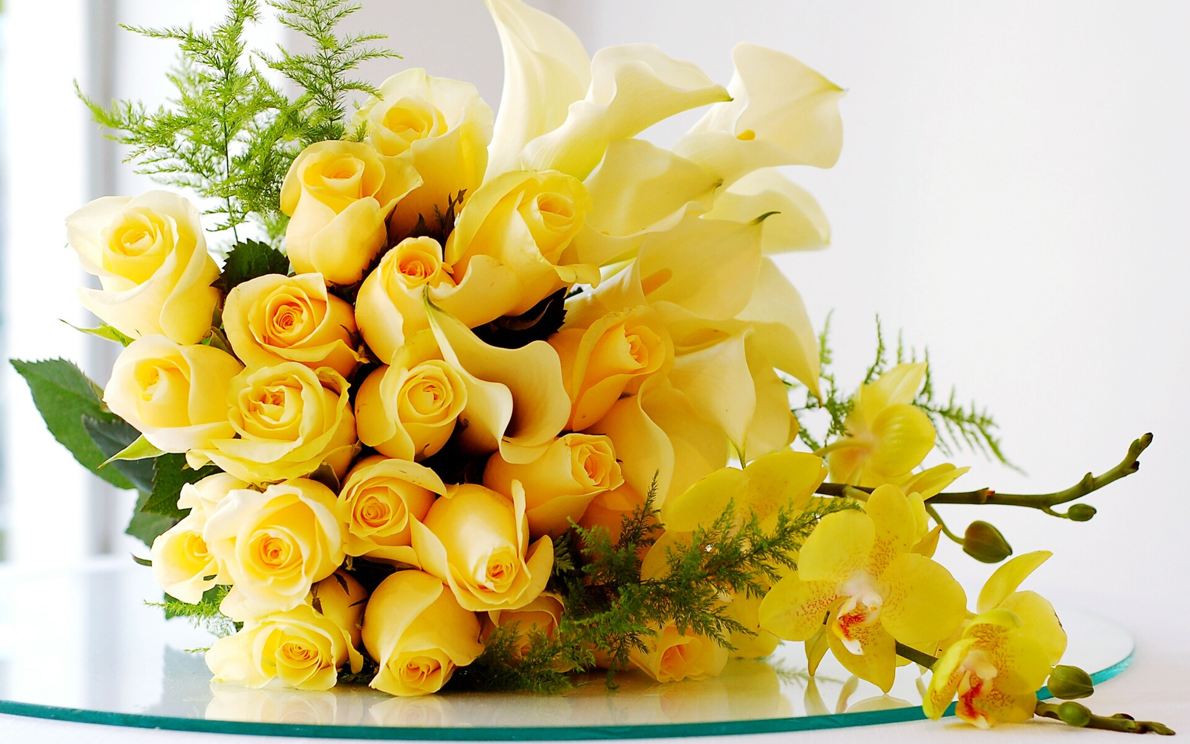 flower, freshness, fragility, petal, yellow, flower head, indoors, beauty in nature, vase, growth, nature, bunch of flowers, bouquet, close-up, blooming, flower arrangement, plant, white color, decoration, no people