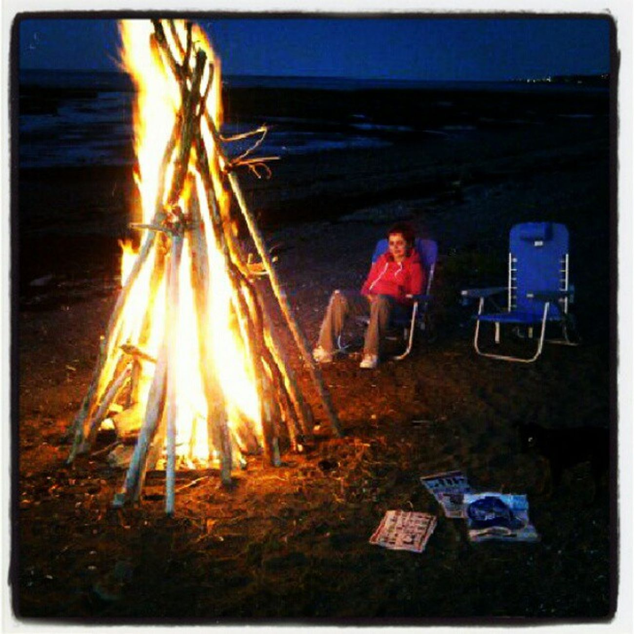 Wish it could be summer vacation all the time Fire Beach Girl Relax chill swag summer night